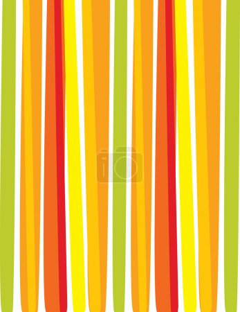Illustration for Summer background with stripes, vector illustration - Royalty Free Image