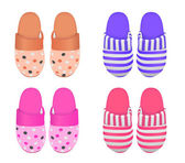 Vector set of four slippers Eps 8 Vector gradient mesh used