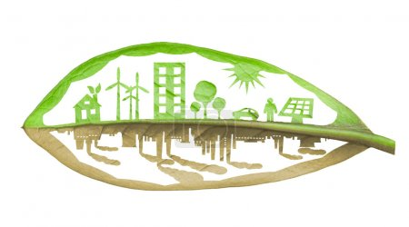 Green ecology city against pollution concep...