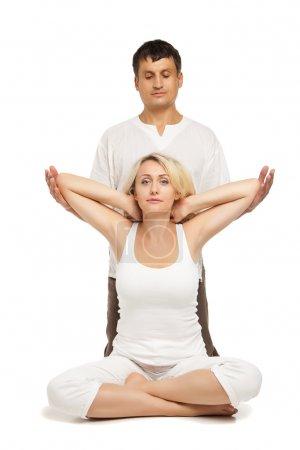 female receiving traditional thai massage