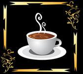 šálek kávy a kouření
