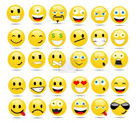 set of glossy Emoticons
