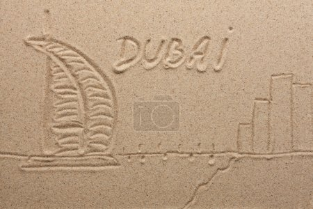 dubai painted by in the sand