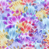 Seamless flowers vector pattern
