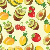 Fruit pattern vector