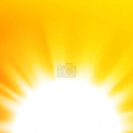 Illustration for Vector abstract background with orange sun - Royalty Free Image