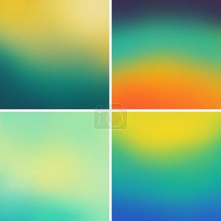 Illustration pour Fond vectoriel flou coloré abstrait ensemble 11 - image libre de droit