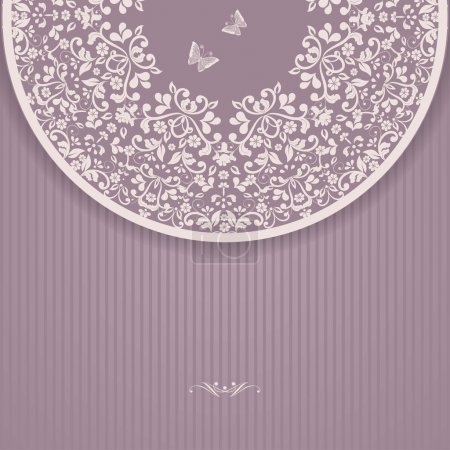 Illustration for Wedding card or invitation with abstract floral background. - Royalty Free Image