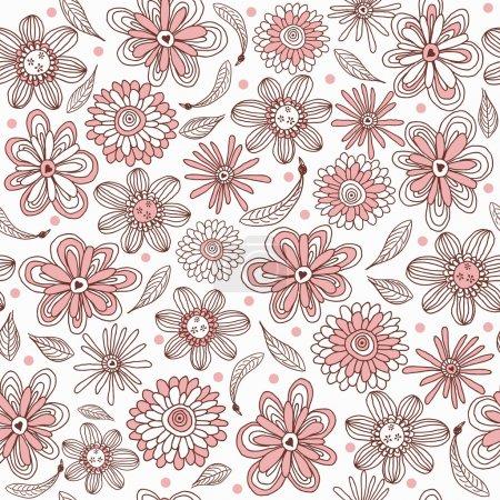 Illustration pour Motif floral sans soudure - image libre de droit