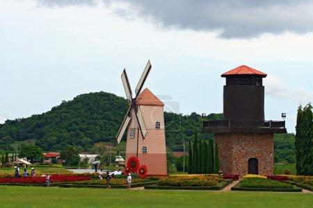 Historic windmill Pattaya Thailand