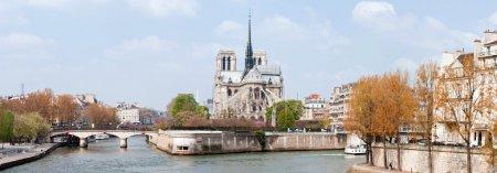Paris Cathedral Notre Dame Panorama