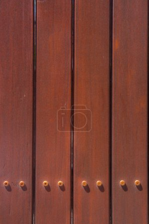 Photo for Dark Brown Wood Fence Background - Royalty Free Image