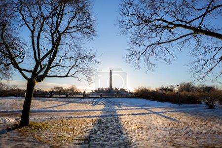 Photo pour Vigeland park hiver Oslo Norvège - image libre de droit