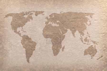 Photo pour Carte du monde vintage sur papier (carte de la NASA ) - image libre de droit