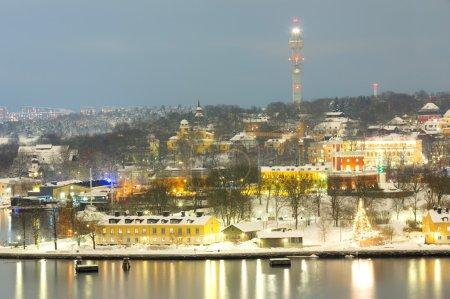 Stockholm Cityscape night