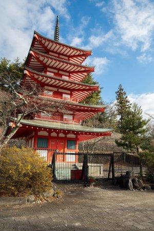 Shureito pagoda fuji mountain Japan