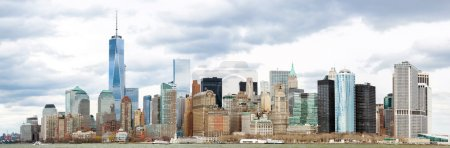 Photo pour Panorama de New York dans le Lower Manhattan - image libre de droit