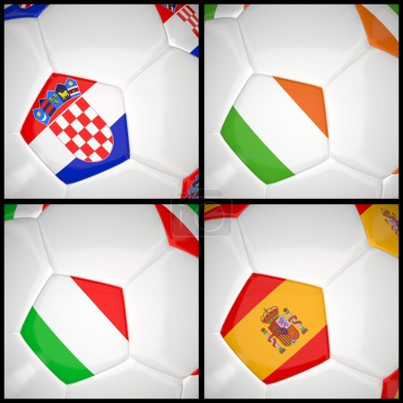 International flag on 3d football