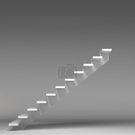 3D image of stairway