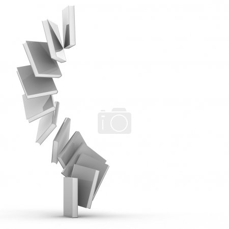 Photo for 3d Blank book cover over white background - Royalty Free Image