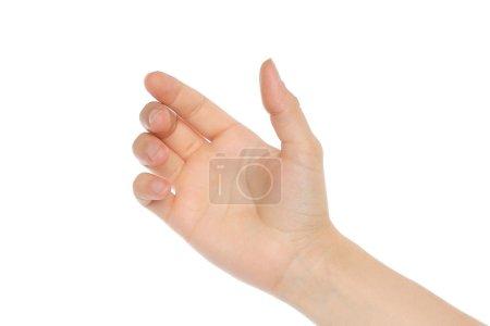 Woman hand like holding mobile phone
