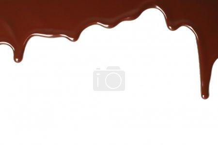 geschmolzene Schokolade tropft