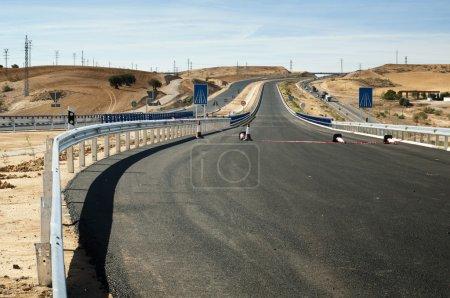 New asphalt highway road.