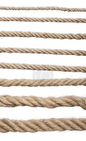 Close up hemp rope