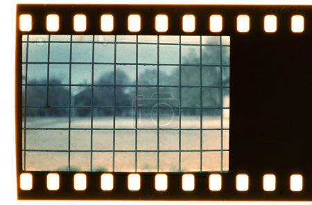 Photo for Vintage grid. Real film strip. Black color - Royalty Free Image