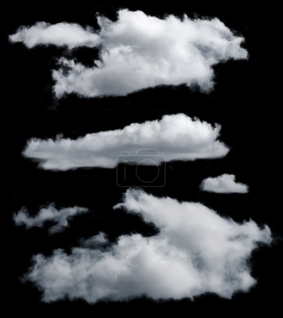 Photo for Set of isolated clouds. Desighn elements - Royalty Free Image