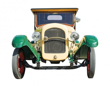 Photo pour Vieille voiture rétro vintage. couleurs vertes et jaunes - image libre de droit