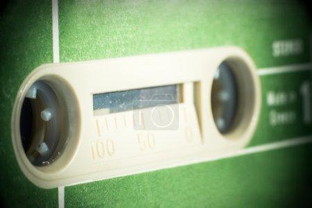 Photo pour Ruban cassette vintage vert. Gros plan macro shot - image libre de droit