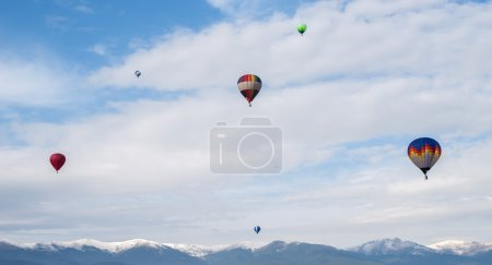 Multicolored Balloons in the blue sky