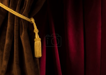 Red and brown theatre curtain