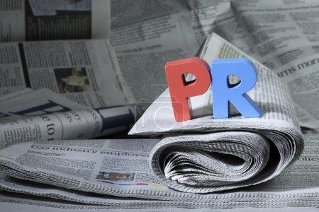 Wort pr auf Zeitung