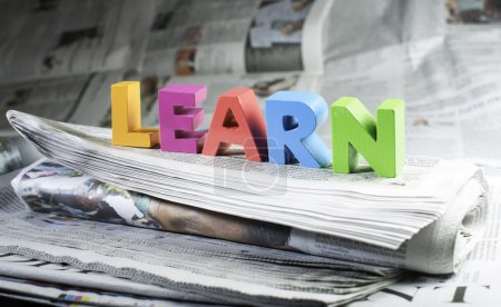 Word learn on newspaper