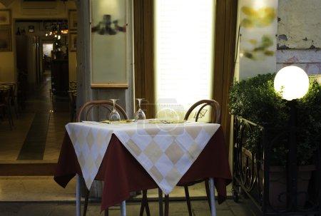 Table in an Italian restaurant.