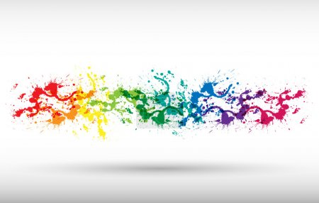 Photo for Color paint splashes. Gradient background - Royalty Free Image