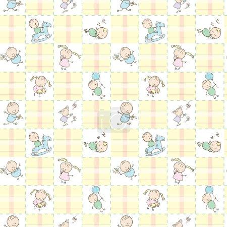 Baby Seamless Wallpaper