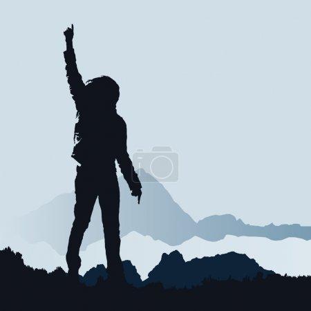 Illustration for Success, vector illustration - Royalty Free Image