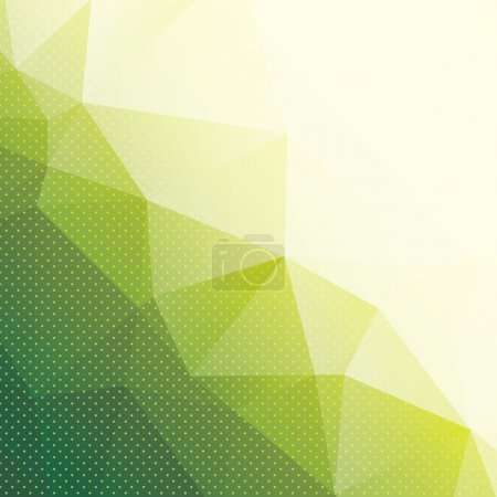 Illustration for Abstract green geometric background with triangles and dots, vector illustration - Royalty Free Image