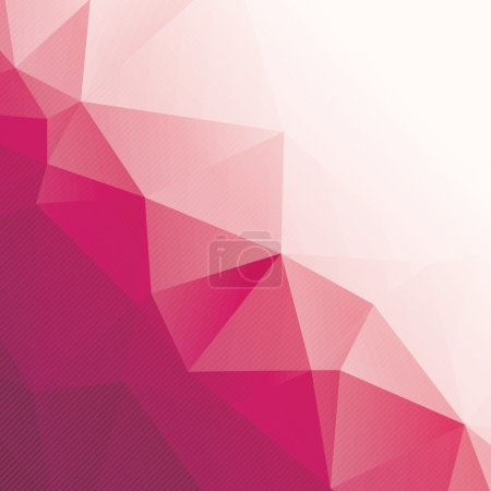 abstract pink triangle background with stripes