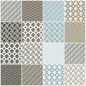 geometric seamless patterns: squares lines waves
