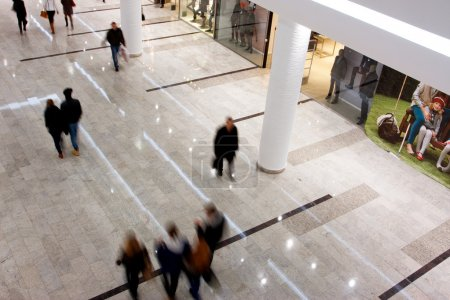 Customers walking around the largest mall