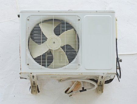 Air conditioner on the wall.