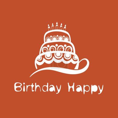 Illustration pour Gâteau - Joyeux anniversaire - image libre de droit