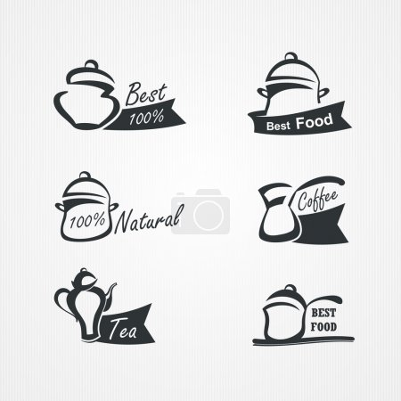 Illustration for Vector collection of cooking symbols - Royalty Free Image