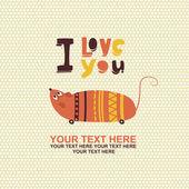 Cute mouse romantic card