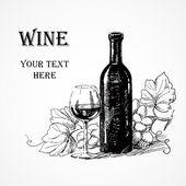 Grape wine illustration