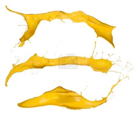 Yellow splashes